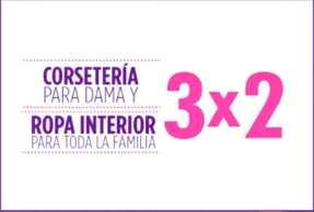 Suburbia: 3x2 en corsetería para dama y ropa interior para toda la familia