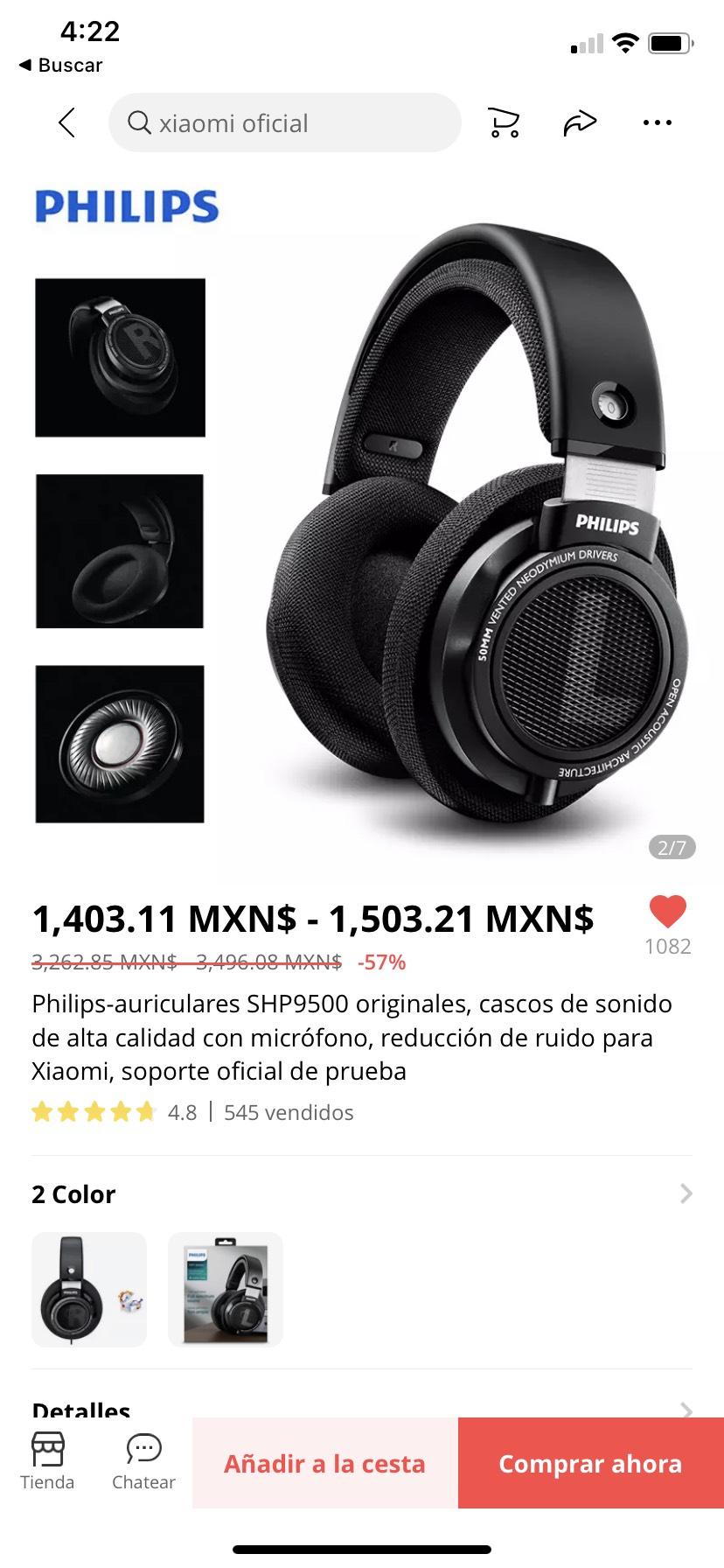 AliExpress: Audífonos en Philips sph9500