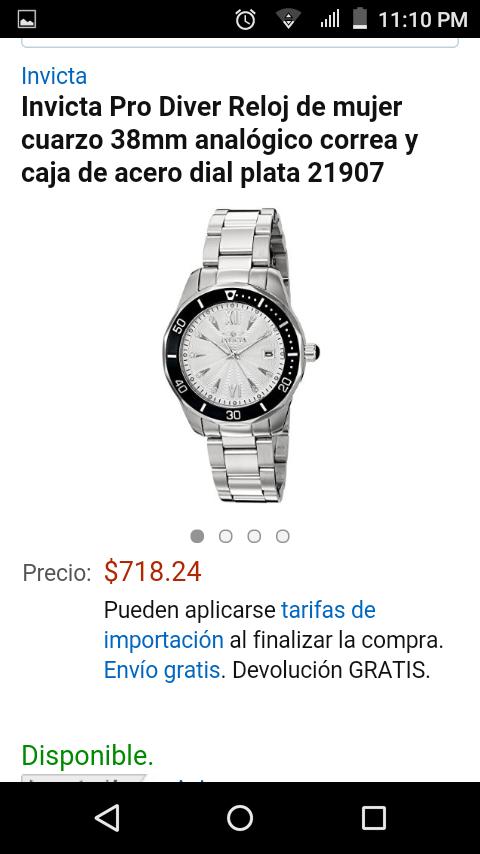 Amazon: Invicta Pro Diver Reloj de mujer a $719