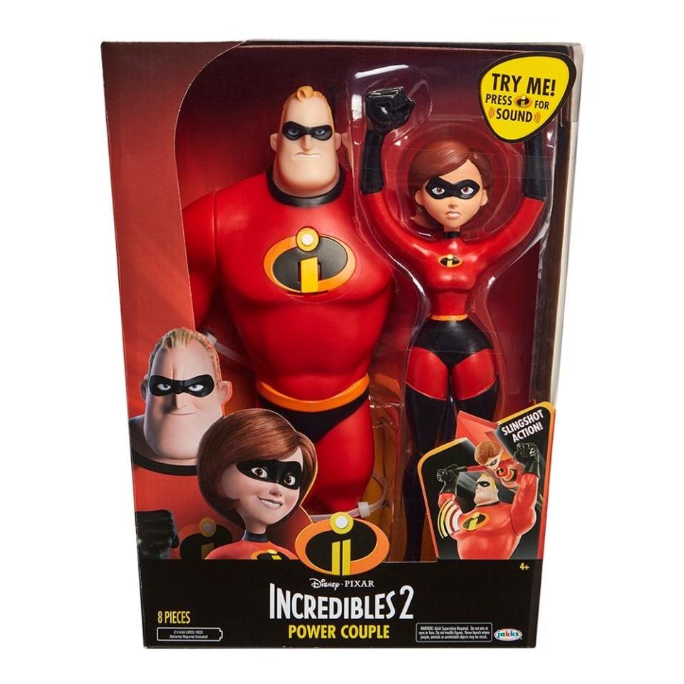 Walmart: Set de Figuras Los Increíbles 2 Power Couple 12 Pulgadas