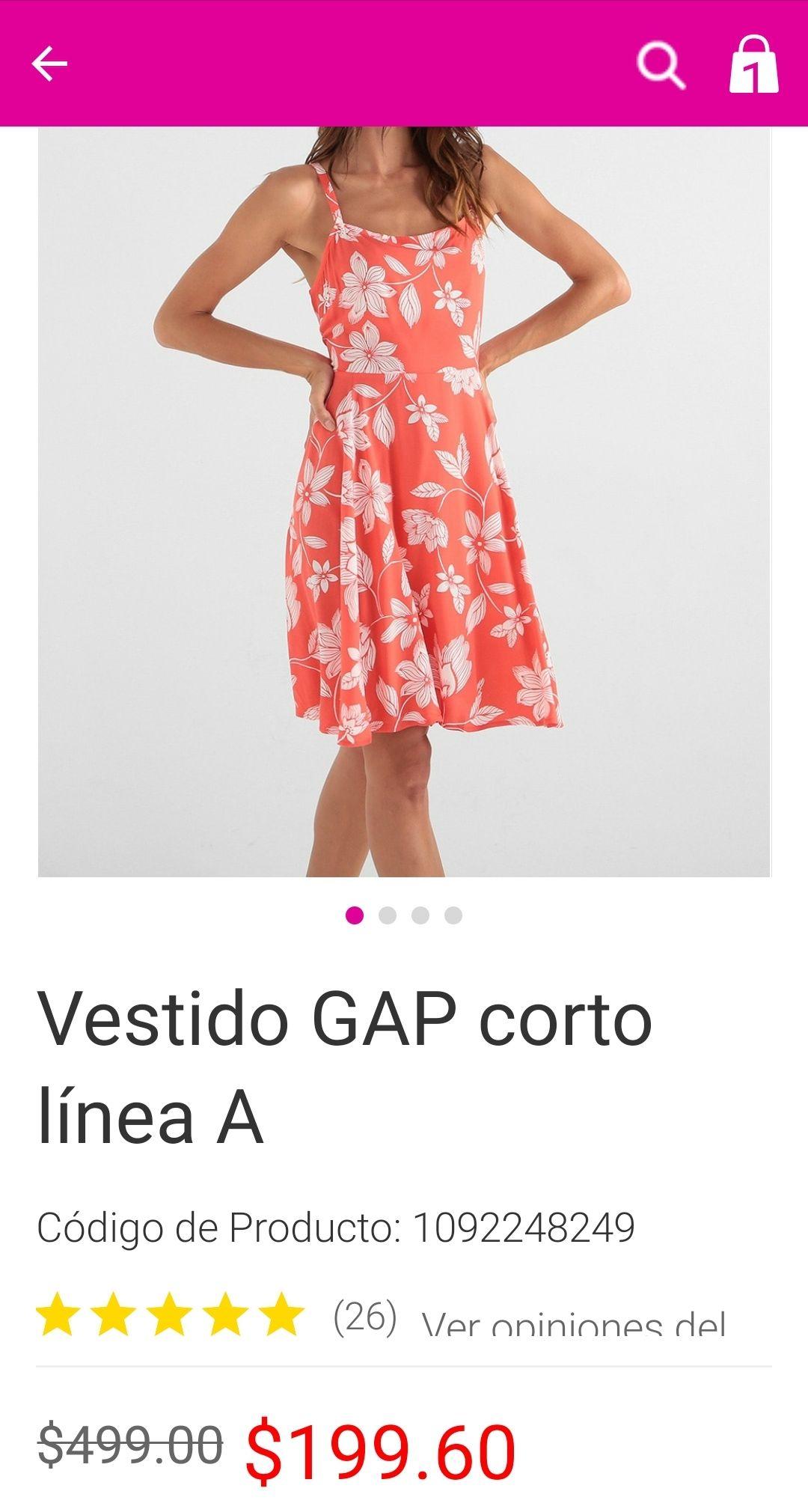 Liverpool: vestido GAP 3 diseños diferentes