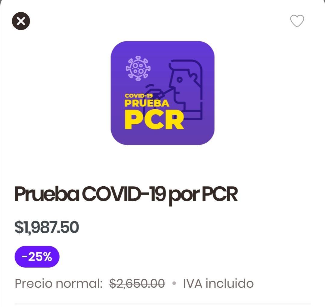 Rappi: Prueba Covid-19 PCR a domicilio