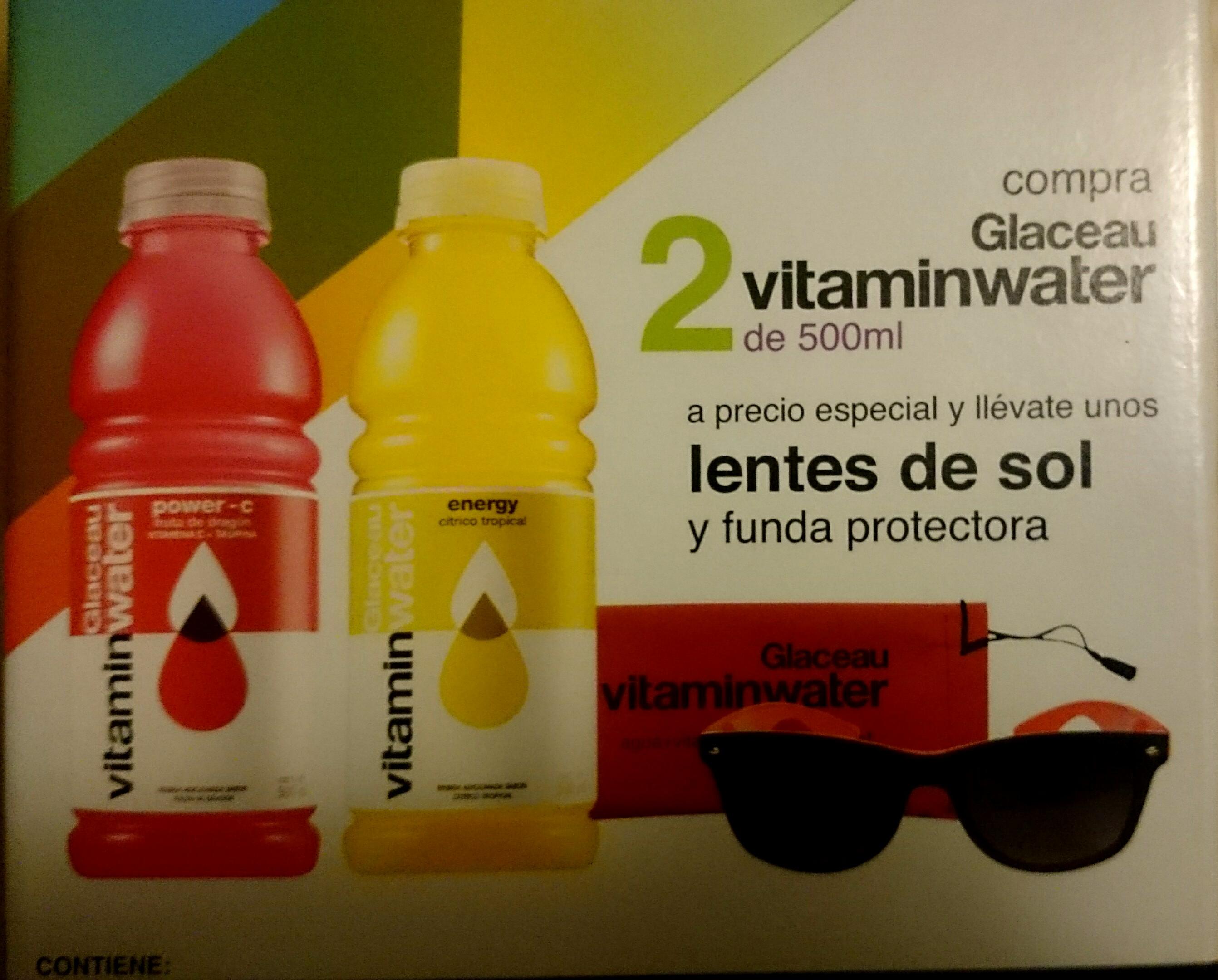 Walmart: 2 botellas Glaceu Vitamin Water + Lentes por $32.02