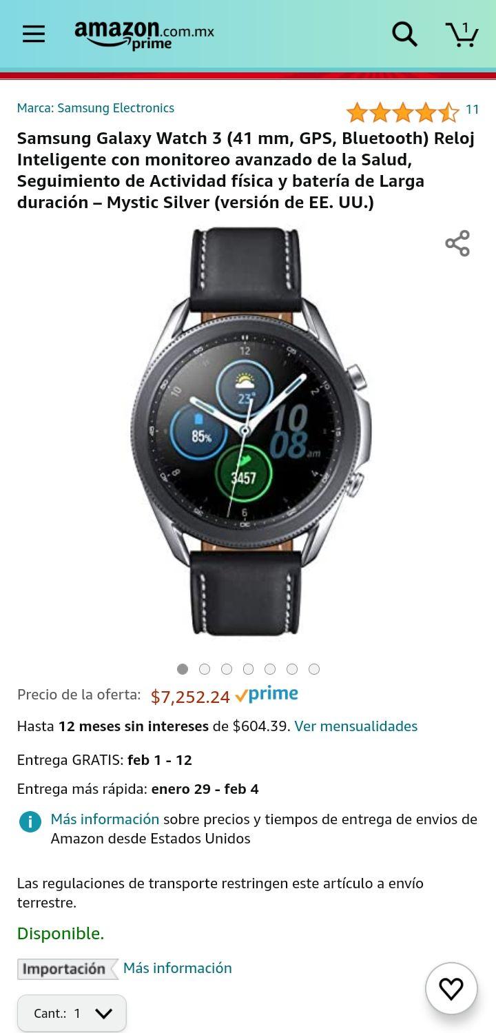 Amazon: Galaxy watch 3