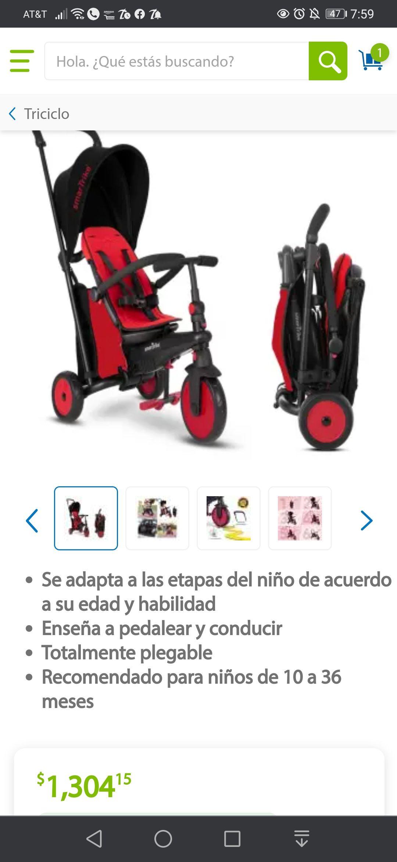 Sam's Club: Triciclo SmartTrike 6 en 1