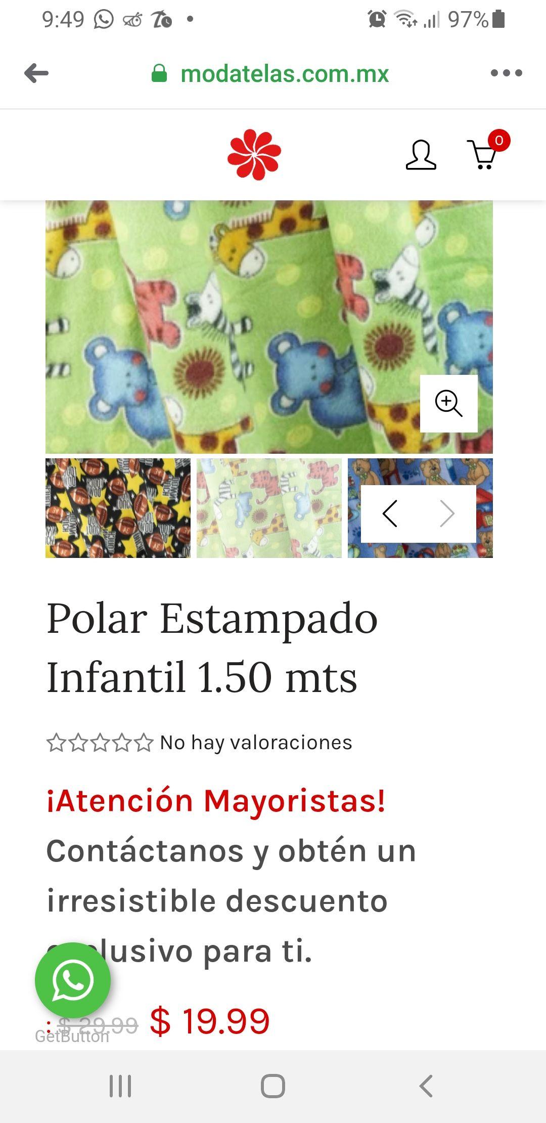 MODATELAs Polar estampado infantil