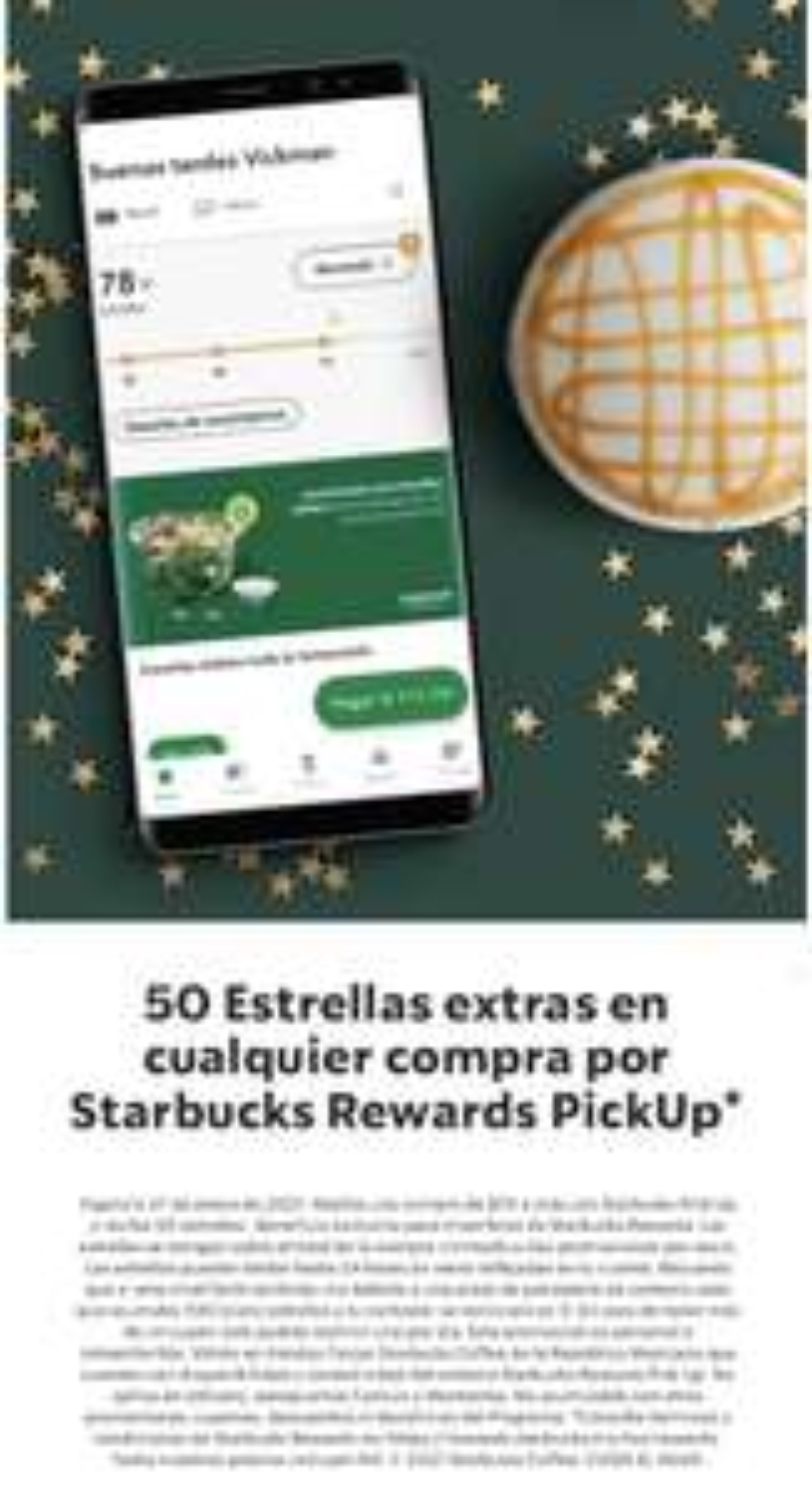 Starbucks: 50 Estrellas Extras