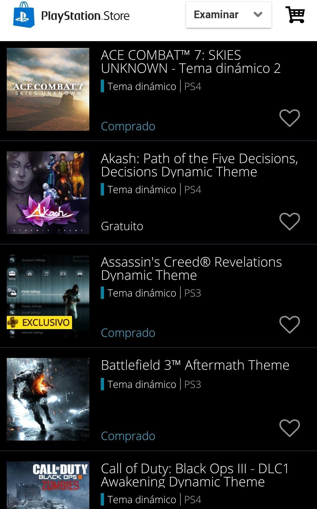Playstation PSN Store: Temas dinámicos gratis