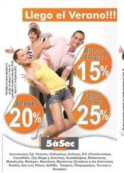 Tintorerías 5aSec: 3x2 en desmanchado, lavado y planchado, 20% en jeans y más