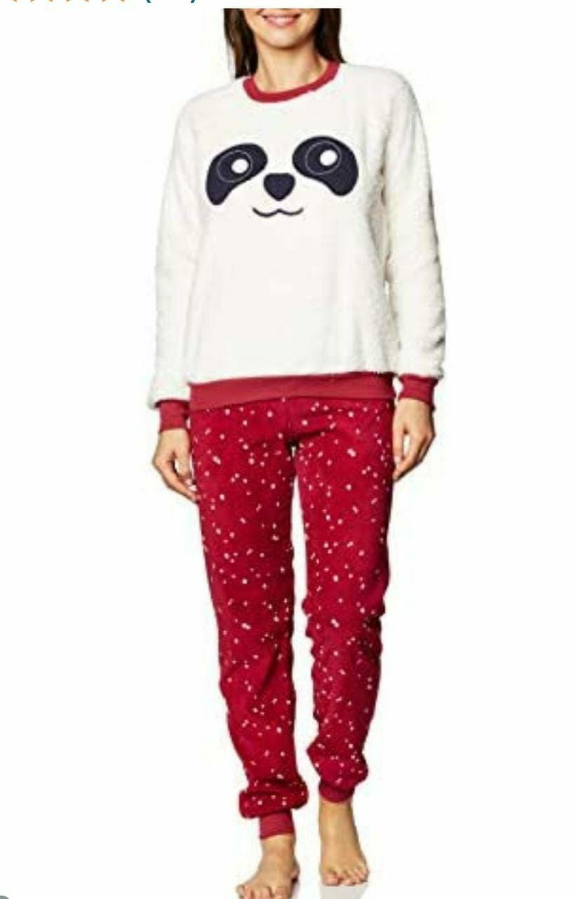 Amazon: Pijama invernal dama dos piezas talla M