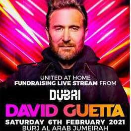 Concierto GRATIS de David Guetta desde Dubái (06-02)