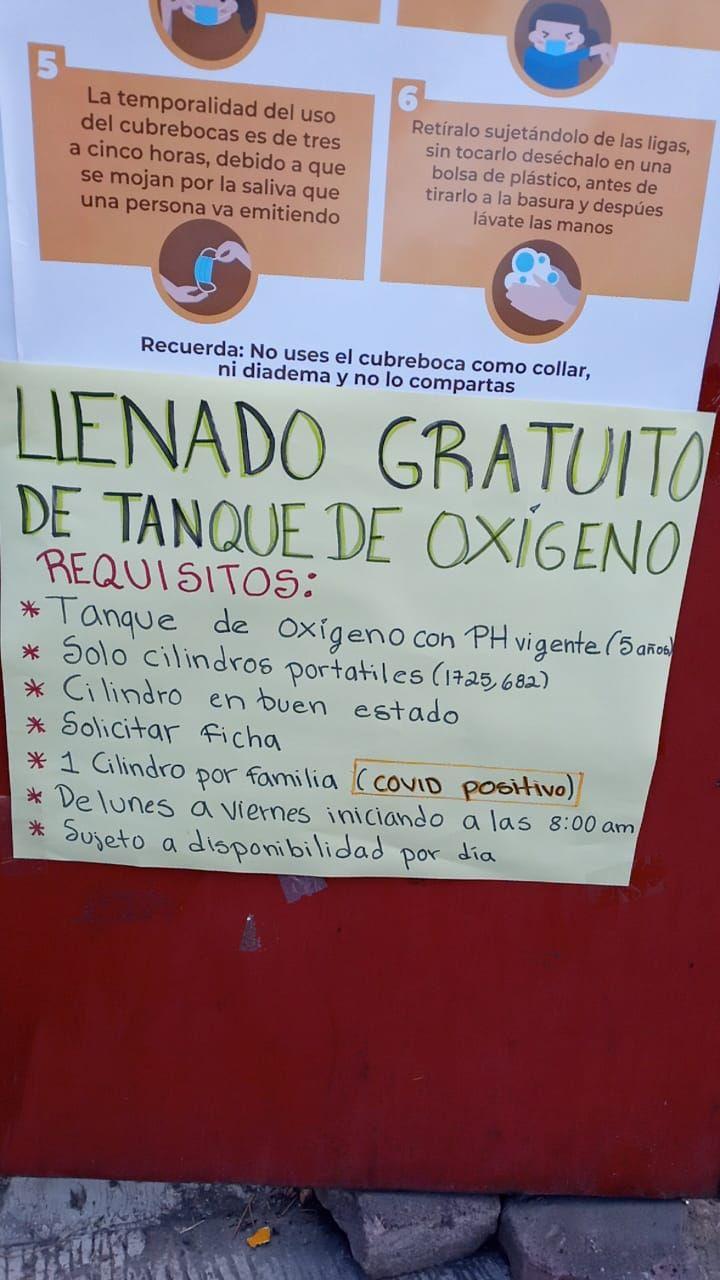 Álvaro Obregón, Centro de salud Tanques de oxígeno llenado gratis