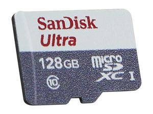 PCEL: Memoria SanDisk Ultra MicroSDXC UHS-1 U1 de 128 GB, Clase 10.