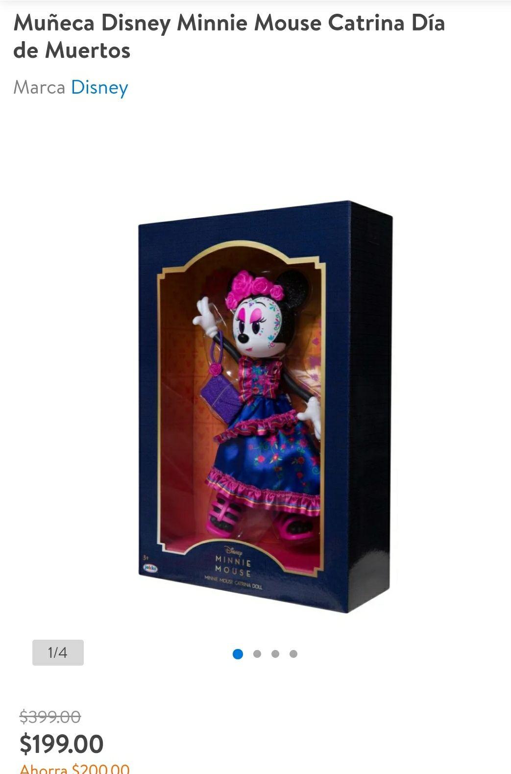 Walmart: Muñeca Disney Minnie Mouse Catrina Día de Muertos