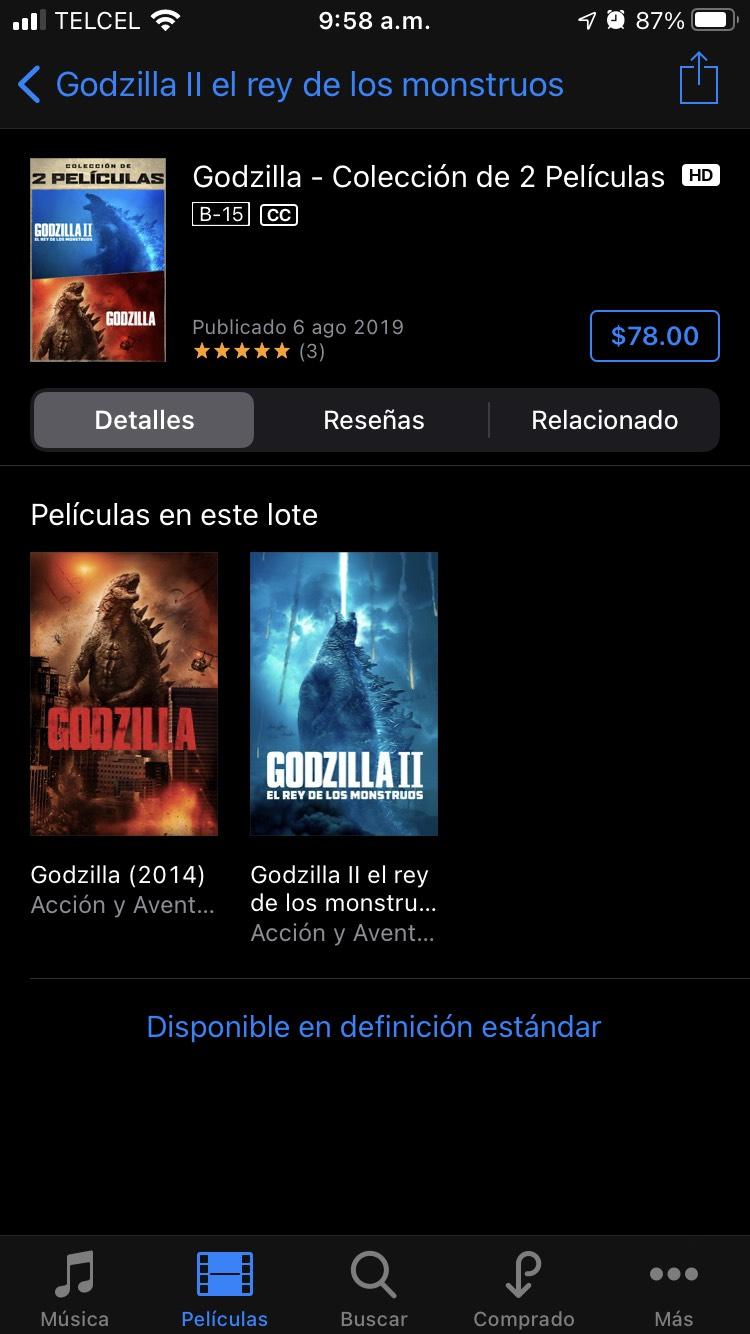 iTunes: Godzilla x2