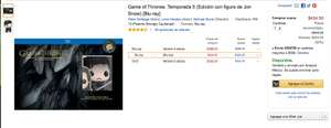 Amazon: 50% Game of thrones temporada 5 con Figura de John Snow a $424.50