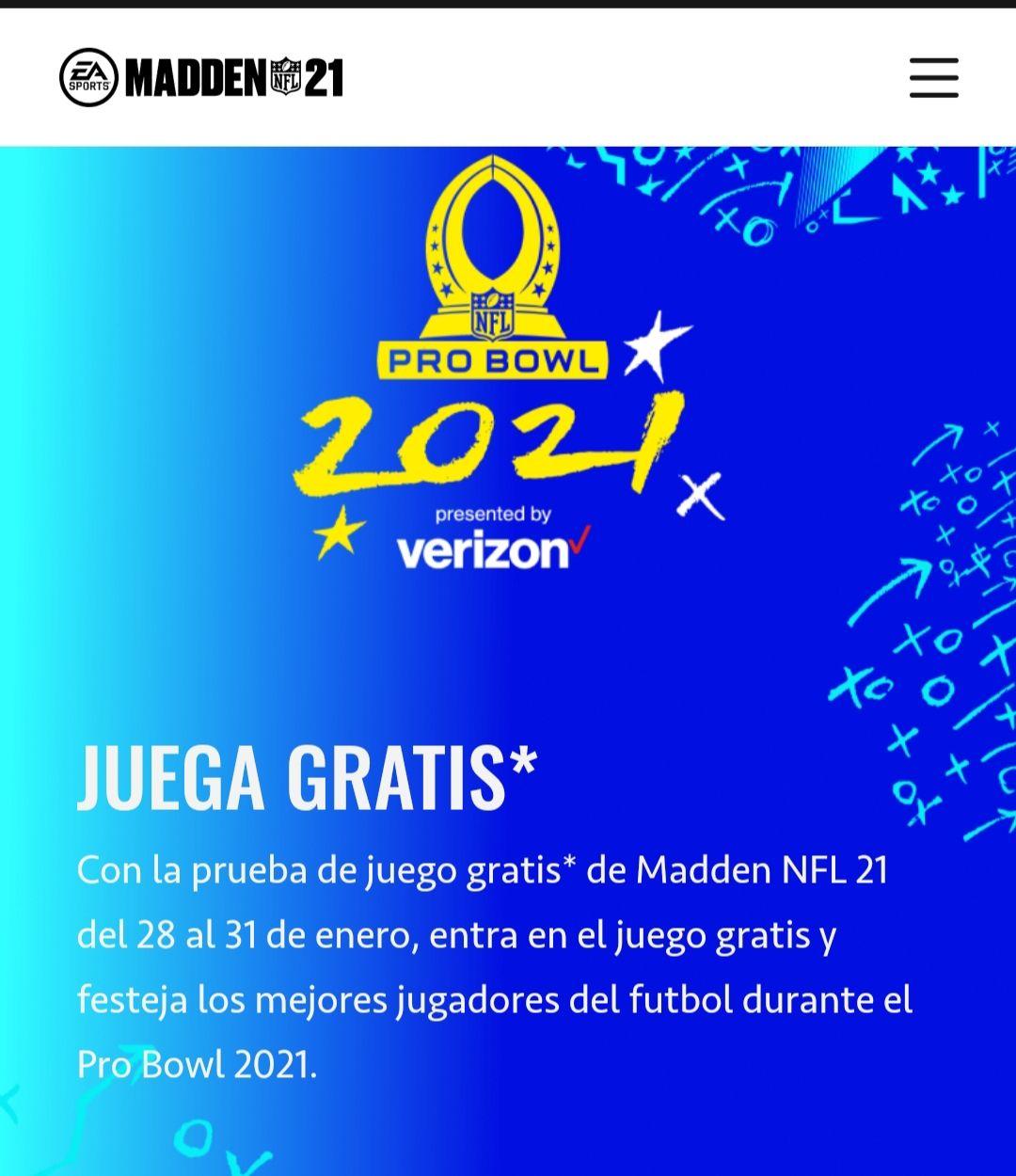 EA: Juega Madden NFL 21 Gratis del 28 al 31 de Enero. (PS4, PS5, Xbox Series S/X, Xbox One, Stadia, Steam)