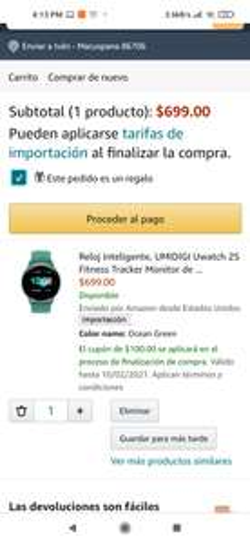 Amazon: Smartwatch umidigi