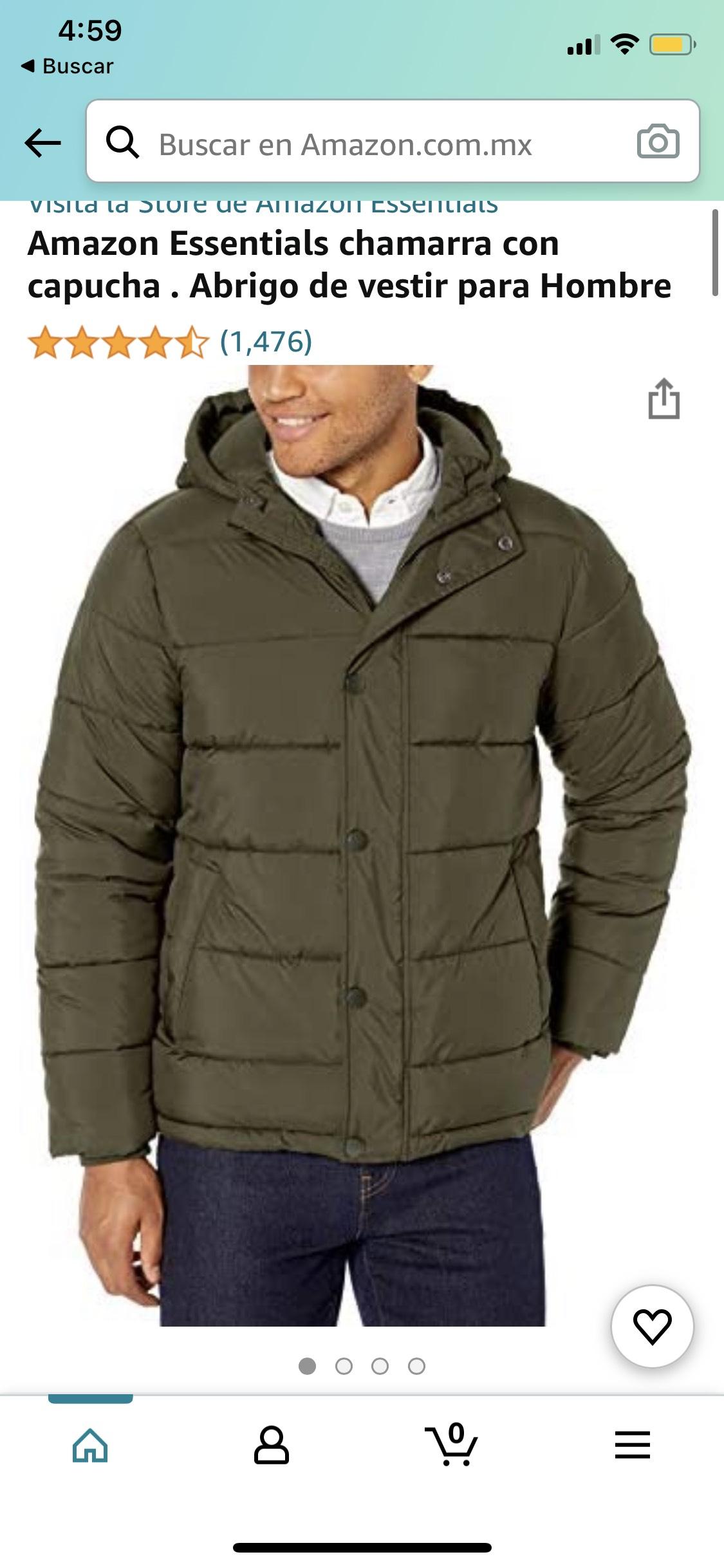 Amazon Essentials chamarra con capucha . Abrigo de vestir para Hombre