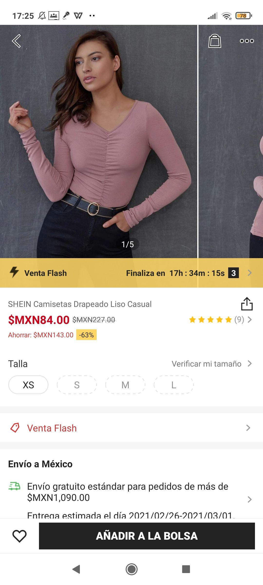 SHEIN: Blusa Drapeado Liso Casual