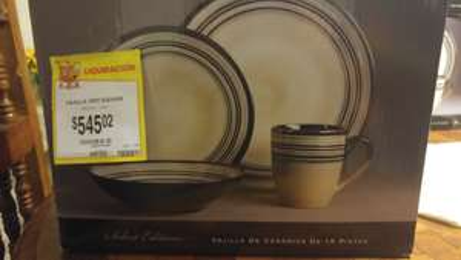 Walmart: vajilla de ceramica 16 pzs a $545.02