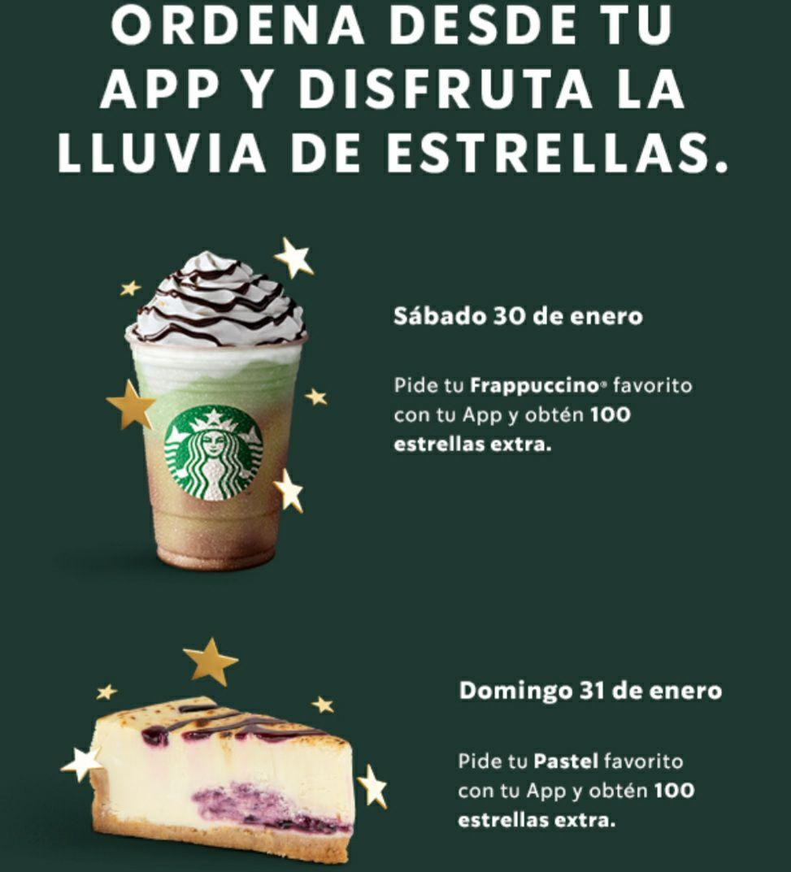 Starbucks - ¡Frappés y pasteles con hasta 200 estrellas solo hoy y mañana!