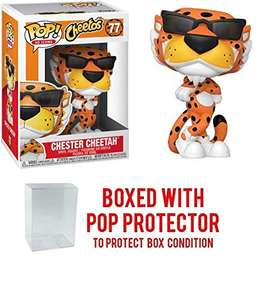 Amazon: Figura de vinilo Pop Ad Icons: Cheetos Chester Cheetah Pop (incluye funda protectora compatible para caja emergente)
