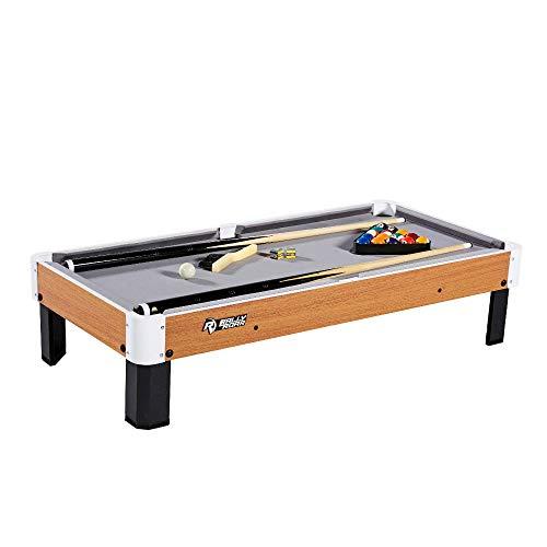 Amazon: Juego de mesa y accesorios de mesa de billar, 101,6 x 50,8 x 22,8 cm, mini, mesas de billar