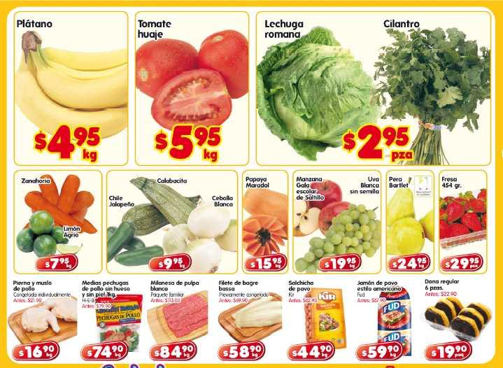 Frutas y verduras HEB: plátano $4.95, tomate $5.95 y más