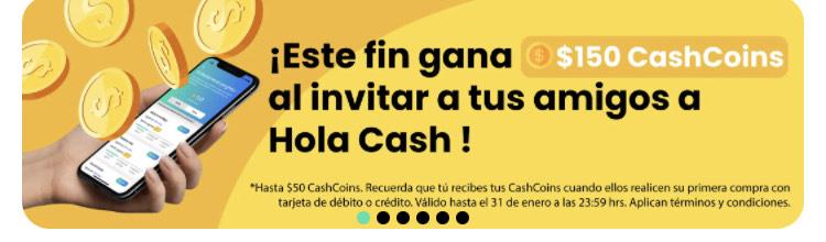 Hola Cash: 150 Cash Coins por cada amigo que se una este fin de semana