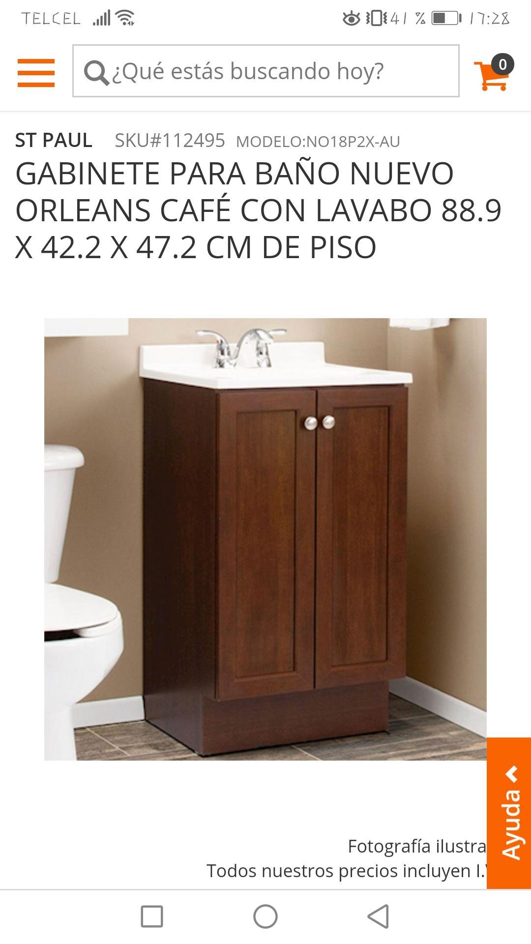 Home Depot: Gabinete para baño