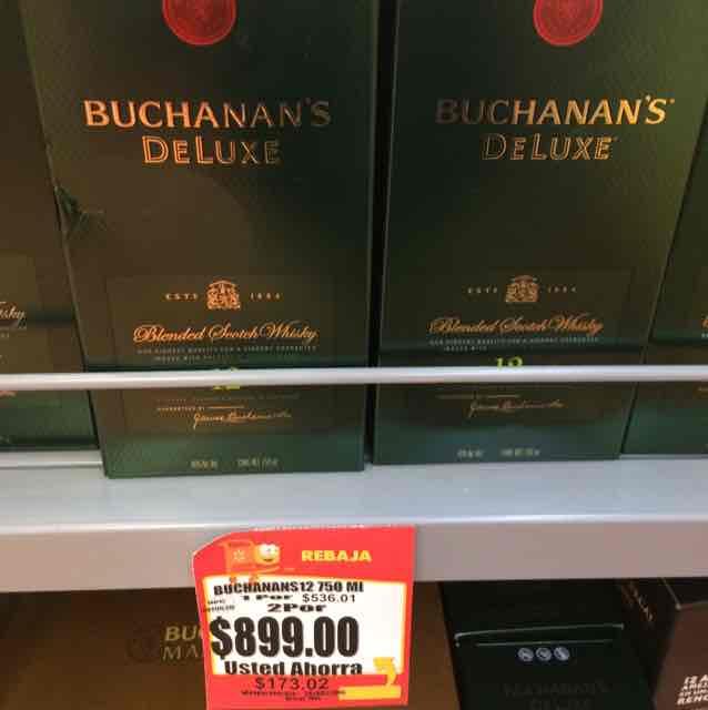 Walmart Alamedas: 2 botellas de Buchanan's Deluxe 12 por $899