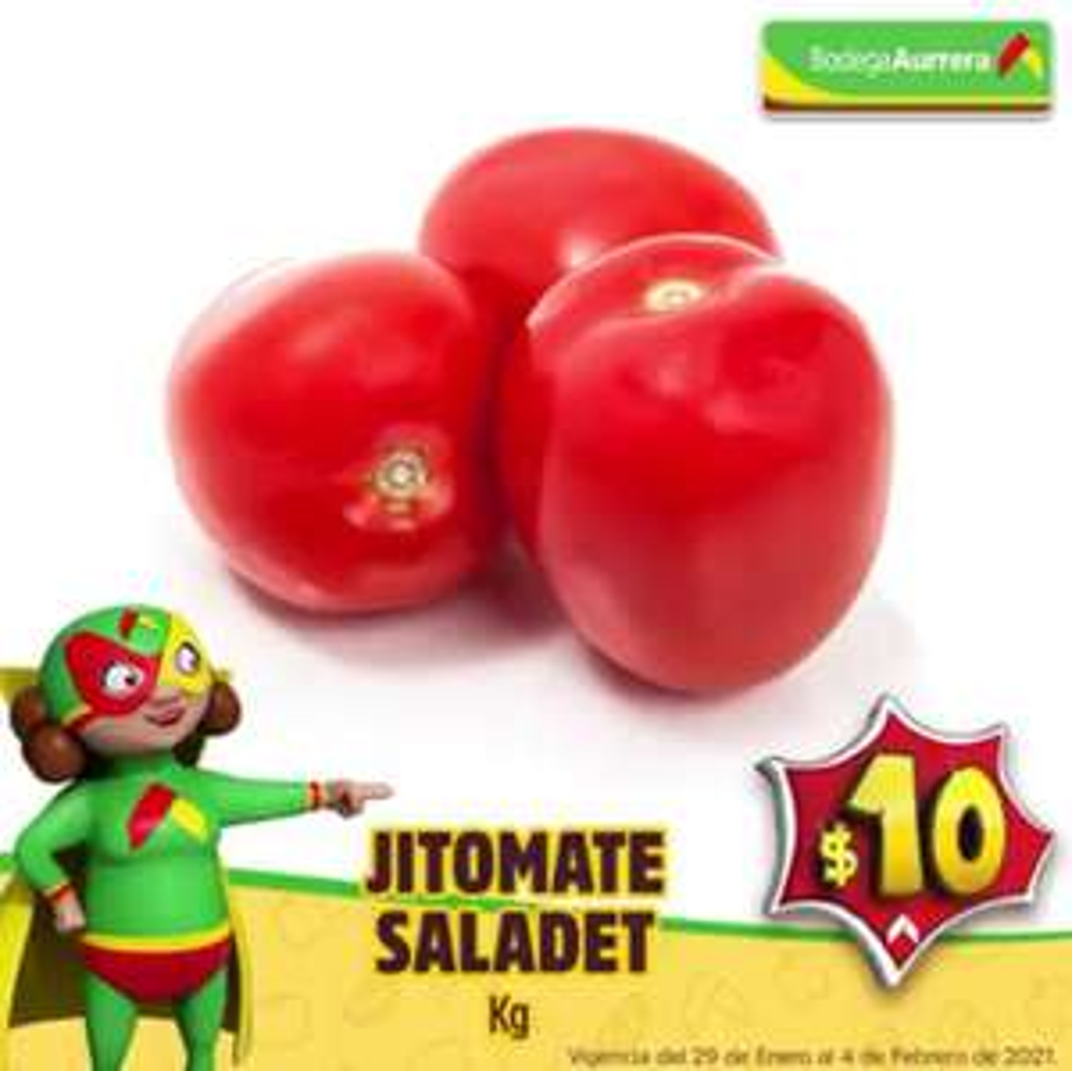 Bodega Aurrerá: El Tianguis de Mamá Lucha del Viernes 29 de Enero al Jueves 4 de Febrero: Jitomate Saladet $10.00 kg.