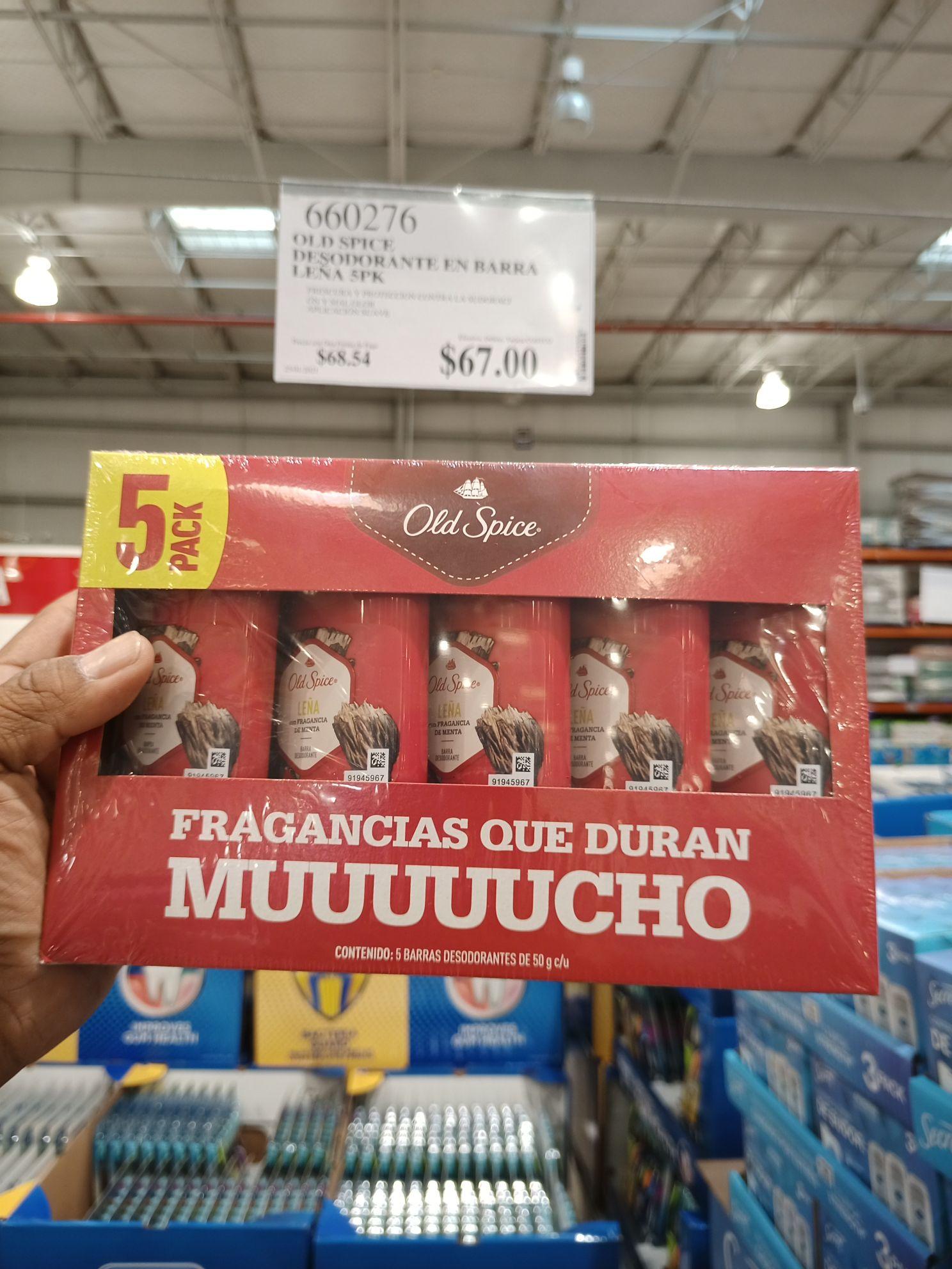 Costco Cuernavaca: 5 pack Old Spice desodorante