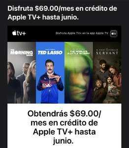 Apple TV - Crédito por $69