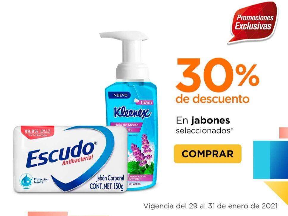 Chedraui: 30% de descuento en todos los jabones de tocador Escudo y Kleenex