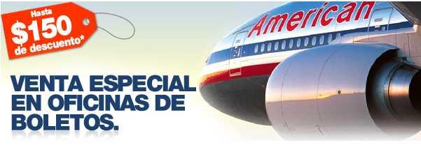 American Airlines: hasta 150 dólares de descuento en viaje redondo y meses sin intereses