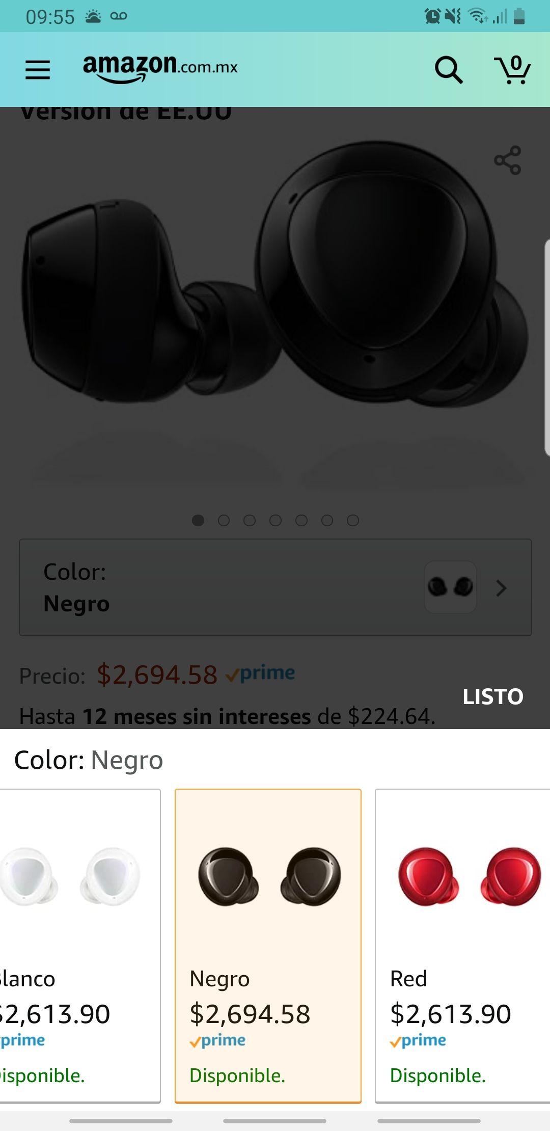 Amazon: Samsung Galaxy Buds + blancos o rojos