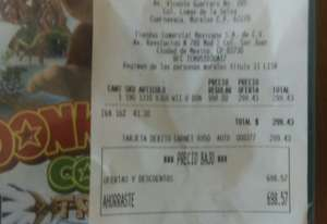 Comercial Mexicana: Donkey Kong Country: Tropical Freeze para Wii U a $299
