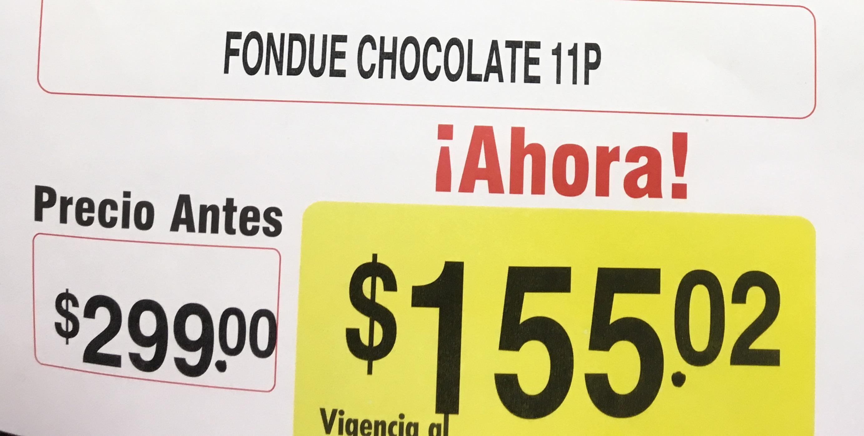 Superama Av Emiliano Zapata - Set fondue de chocolate