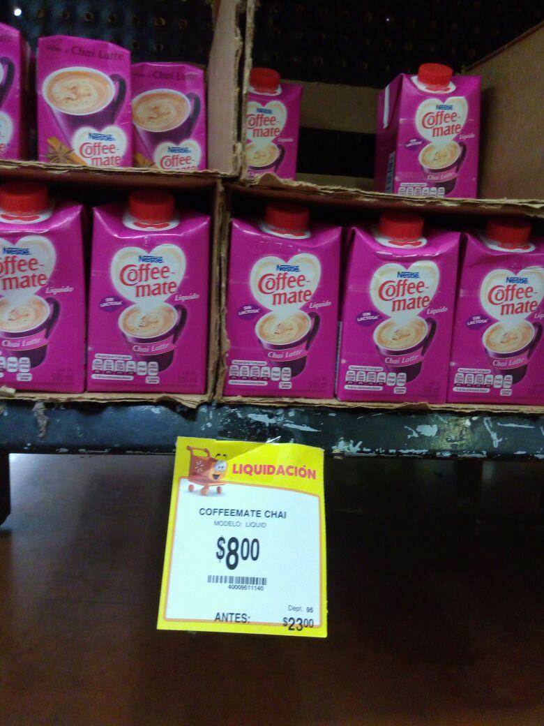 Walmart La Isla Culiacan, Sinaloa: Coffeemate chai de $23 a $8