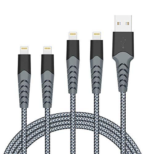 Amazon: 4 cables para iPhone (2 de 1m y 2 de 2m)