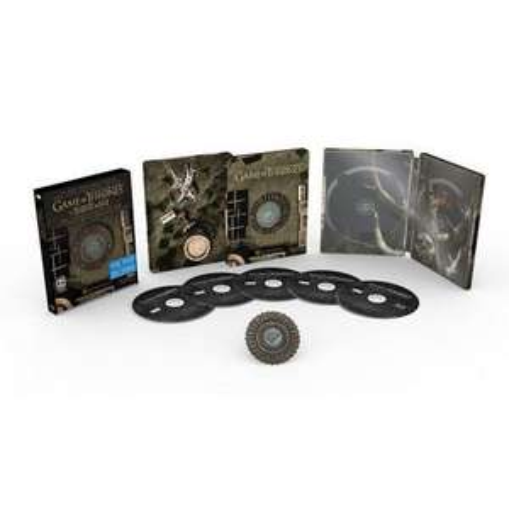 Amazon Mx: Game of Thrones, cada una de las 4 temporadas en Blu-ray Steelbook.