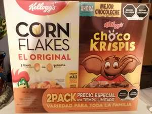 Chedraui: Cereal 2 pack (Kellogg's y chocokrispis) con promonovela