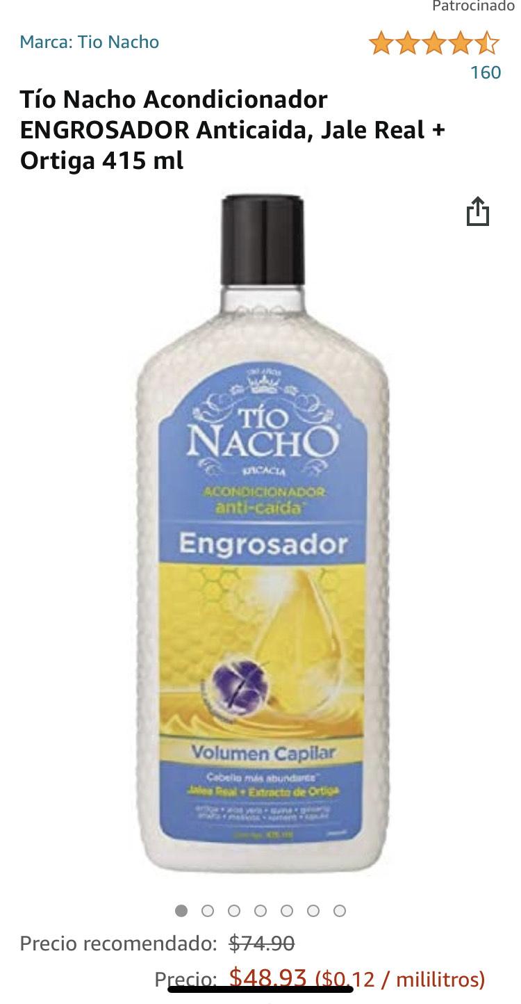 Amazon: Tío Nacho Acondicionador ENGROSADOR Anticaida, Jale Real + Ortiga 415 ml