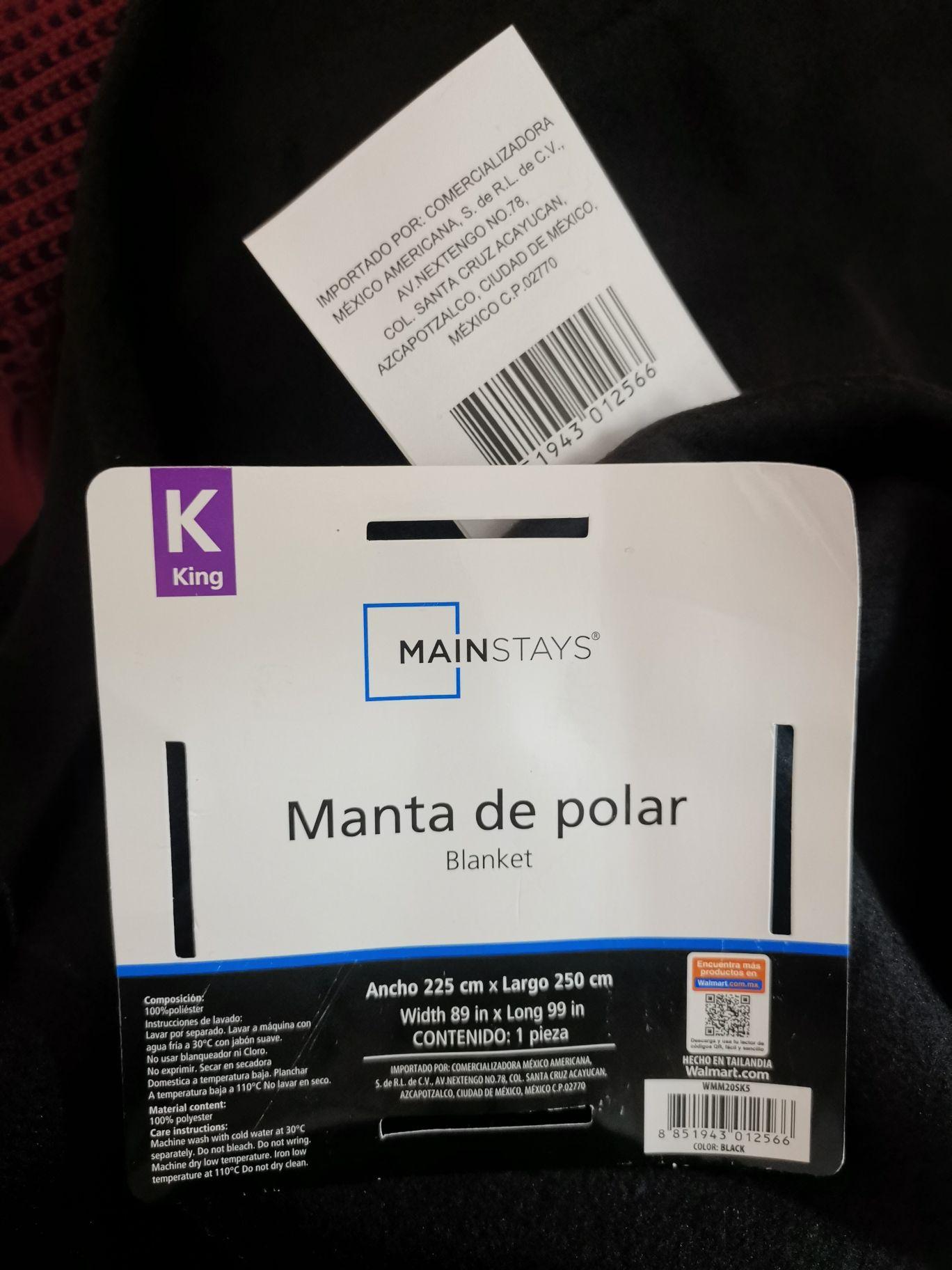 Walmart - Manta de polar negra king