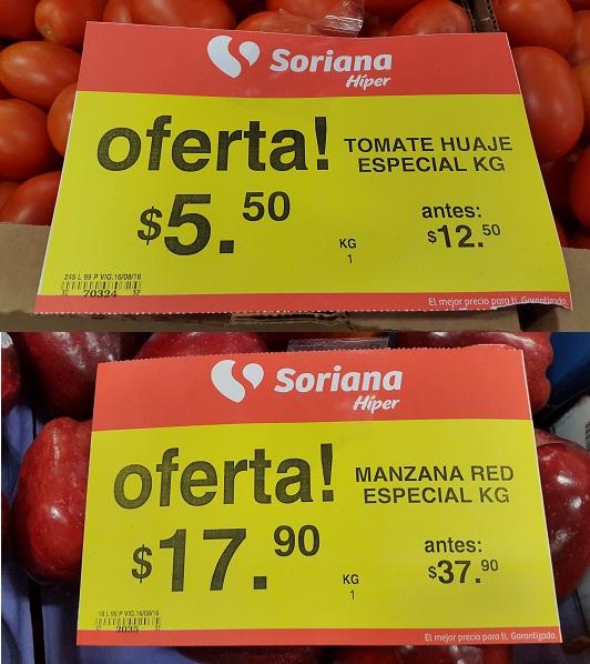 Soriana Híper y Súper: Tomate Huaje $5.50, Manzana Red Delicious $17.90 kg. y más