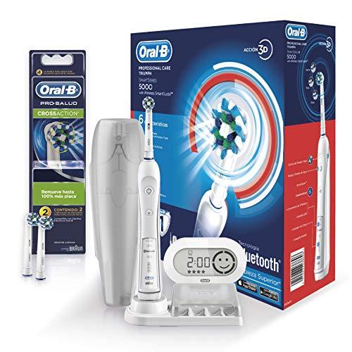 Amazon: Oral-B Professional Care 5000 Smart Cepillo Eléctrico con Bluetooth + 2 Repuestos Cross Action