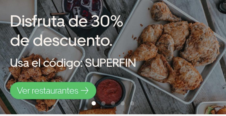 Uber Eats: Descuento 30 %