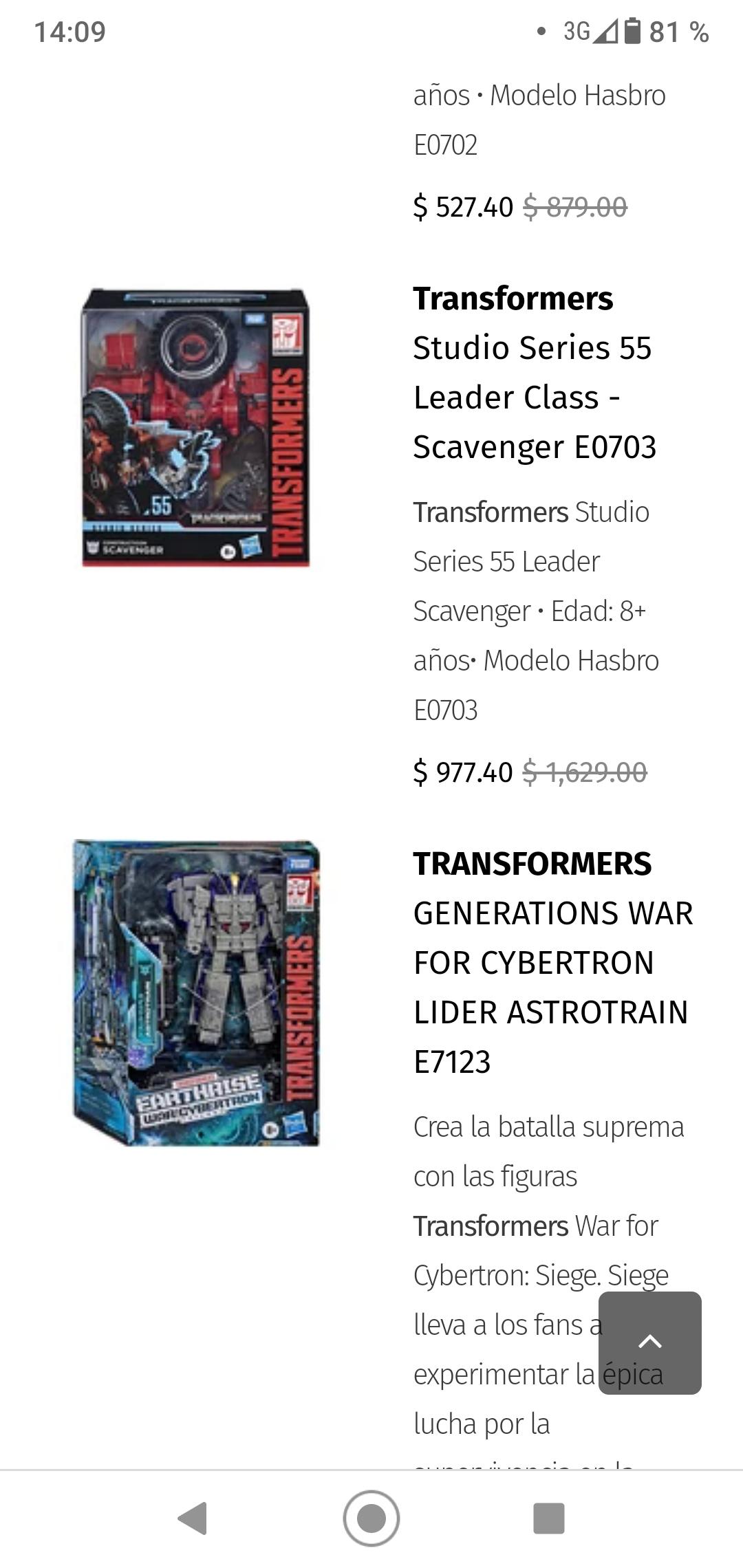 Juguetibici: Transformers con descuento